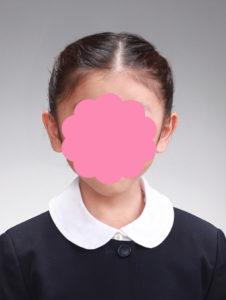 受験写真 女の子のサンプル