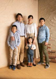 毎年写真を撮ってくれているご家族のお写真