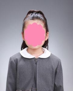 受験写真 女児 ポニーテール