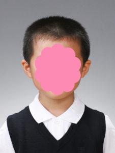 受験写真 男児 見本